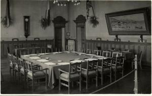Conference Locarno Treaties, Conference Room (1925) RPPC