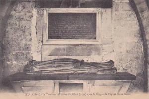 France Eu Le Tombeau d'Helene de Melun dans la Crypte de l'Eglise Notre Dame