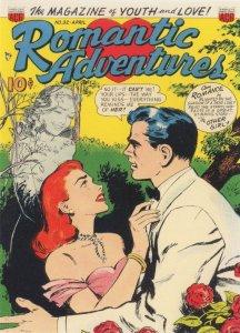 Romantic Adventures 1950s Comic Book Ghost Haunting Postcard