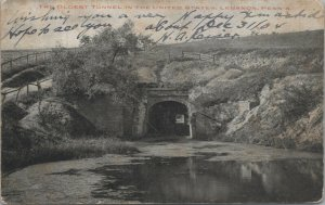 Lebanon PA, Oldest Tunnel In The United States, Vintage Pennsylvania Postcard