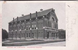 Indiana Valparaiso College and Auditorium