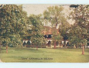 Divided-Back CAMPBELL'S ISLAND INN Hampton Illinois IL L2854
