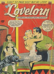 Lovelorn 1950s Comic Book Circus Romance Betrayal Postcard
