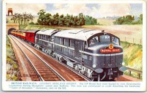 BRITISH RAILWAYS Postcard London Midland Region Artist-Signed ALAN ANDERSON
