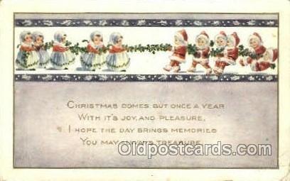 Christmas  Santa Claus 1919 postla used 1909