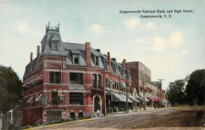 Somersworth New Hampshire~National Bank on High Street~American Express~1912 PC