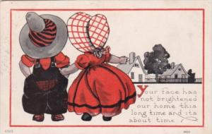 Young Children Sunbonnet and Hat 1915