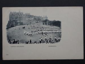 Scotland: Edinburgh Castle Esplanade, Military Parade c1902 UB