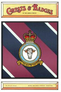 Postcard RAF Royal Air Force Station HEREFORD Crest Badge No.131 NEW