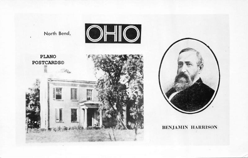 NORTH BEND, OHIO BENJAMIN HARRISON HOME RPPC REAL PHOTO POSTCARD
