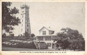 Angola Indiana~Hoosier Hills Observation Tower & Inn~Real Barbeque~1930s B&W PC