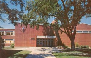 EMPORIA KANSAS ROOSEVELT HIGH SCHOOL KS STATE TEACHERS COLLEGE POSTCARD c1960s