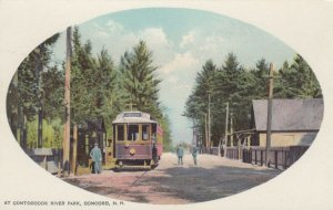 CONCORD , New Hampshire, 1901-07 ; Trolley at Contoocook River Park