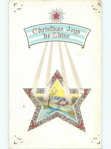 Divided-Back CHRISTMAS SCENE Great Postcard W9732