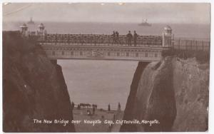 Kent; New Bridge Over Newgate Gap, Cliftonville, Margate RP PPC 1903 PMK