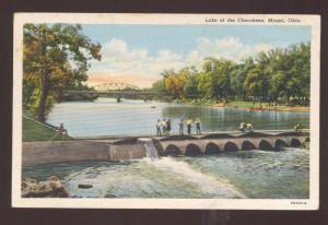 MIAMI OKLAHOMA LAKE OF THE CHERKEES CHEROKEE INDIAN VINTAGE POSTCARD