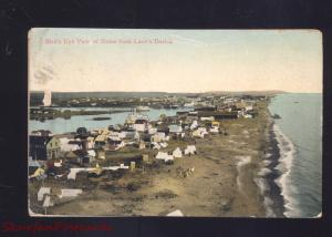NOME ALASKA BIRDSEYE VIEW FROM LANE'S DERRICK ANTIQUE VITNAGE POSTCARD
