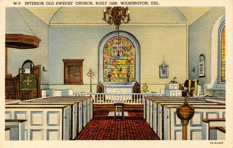 DE - Wilmington. Old Swedes' Church, Interior