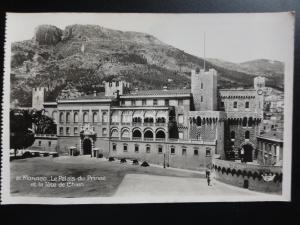 MONACO: Le Palaise du Prince et la tete de Chien c1930's RP Postcard