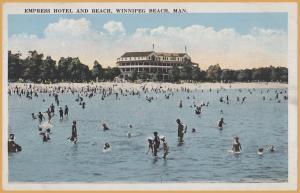 Winnipeg Beach, Manitoba - Empress Hotel and Beach -