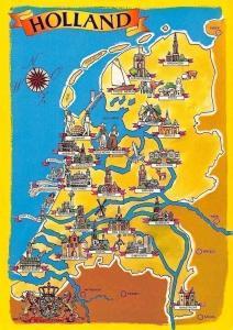 Netherlands Map Holland, Utrecht, Haarlem, Alkmaar, Apeldoorn, Den Bosch