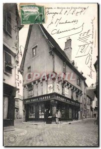 Postcard Old House Bourges Three Flutes