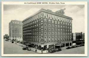Wichita Falls Texas~Kemp Hotel~Cafe~Drug Store~Majestic Theatre~1930s B&W PC
