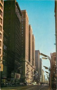 Chicago Illinois~Palmer House Hotel~Roberts Linens on State Street~1950s Cars~PC