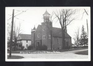 RPPC MARINE CITY MICHIGAN ST. JOHN'S EVANGELICAL CHURCH REAL PHOTO POSTCARD