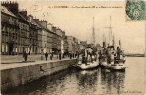 CPA CHERBOURG - Le Quai Alexandre III et le Bassin de Commerce (589203)