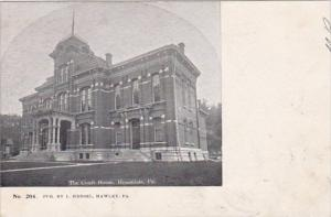 Pennsylvania Honesdale The Court House 1906 Private Mailing Card