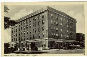 Vance Hotel, Statesville, North Carolina, PU-1939