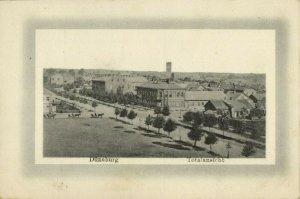 latvia, DAUGAVPILS DÜNABURG, Panorama (1910s) Postcard