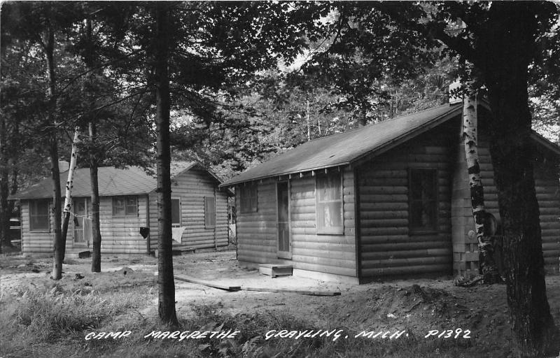 Grayling Michigan~Camp Margrethe-Log Cabins~Clothes Line