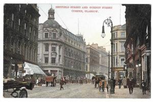 Scotland Glasgow Renfield Gordon Streets Vintage Postcard