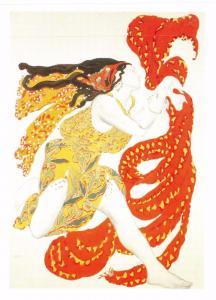 Postcard Art Costume Design for a Bacchante in Narcisse (1911) Leon Bakst #2754