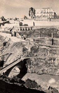 Ruins of the Alcazar and New Bridge,Toledo,Spain BIN