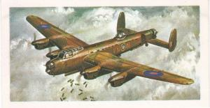 Trade Card Brooke Bond Tea History of Aviation black back reprint No 28 Avro