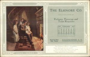 Poughkeepsie NY Elsinore Co Advertising Image Poem & Calendar Postcard #12