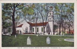 Virginia Richmond Old Saint Johns Church Brod And 25th Streets