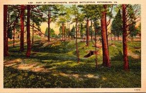 Virginia Petersburg Crater Battlefield Part Of Intrenchments