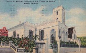 NASSAU, Bahamas, PU-1954; Historic St. Andrew's Presbyterian Kirk (Church Of ...