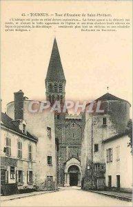Old Postcard Tournus Saint Philibert speaker towers
