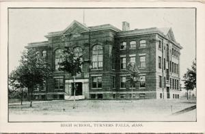 High School Turners Falls MA Mass Unused Vintage Postcard D73