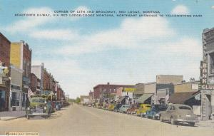 RED LODGE, MONTANA, 30-40s; Corner of 12th and Broadway, Bank Club, Classic Cars