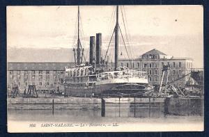 La Navarre Steamer docked St Nazaire France unused c1910's