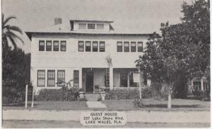 Lake Wales FL - the GUEST HOUSE at 207 Lake Shore Blvd., 1950s