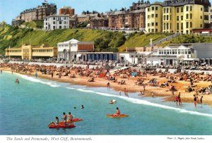 Vintage Dorset Postcard, The Sands and Promenade, West Cliff, Bournemouth FN9
