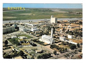 Africa Morocco Kenitra Harbour Aerial View over the Port 4X6 ITTAH Postcard