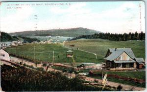 POINTE-AU-PIC, PQ Canada    View of GOLF LINKS   1907    Postcard